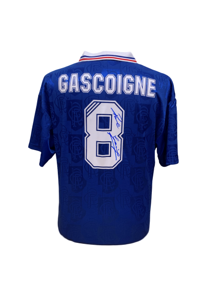 "Paul ""Gazza"" Gascoigne Signed Rangers Shirt"