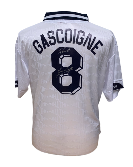 "Paul ""Gazza"" Gascoigne Spurs Signed Tottenham 1991 FA Cup Final Shirt"