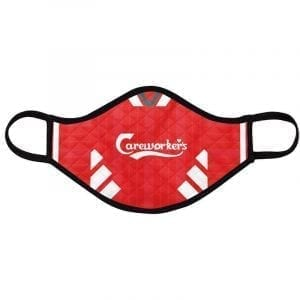 Reds football face mask