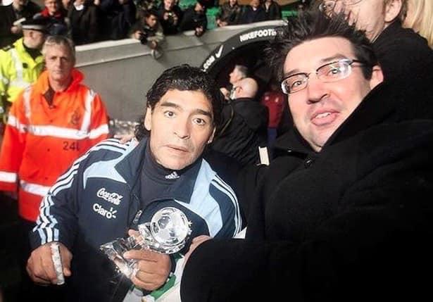 Diego Maradona and Tony