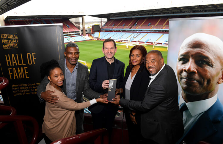 Hall of Fame Cyrille Regis family presented with award by John Barnes