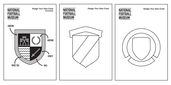 National Football Museum crest colouring kit
