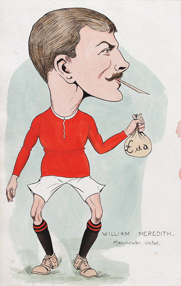 Billy Meredith caricature