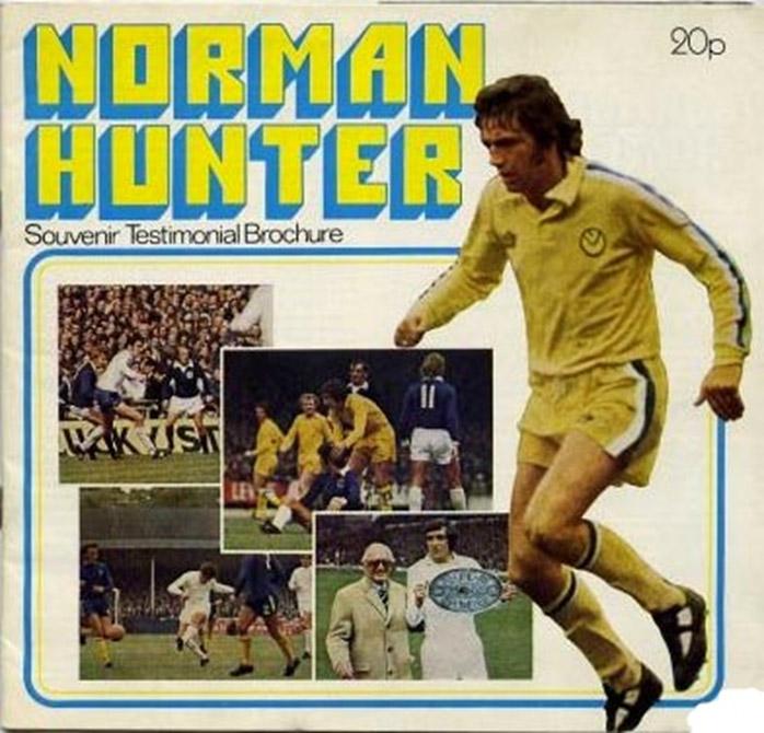 Norman Hunter testimonial programme cover