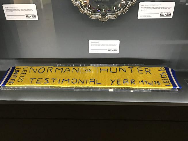 Norman Hunter testimonial scarf