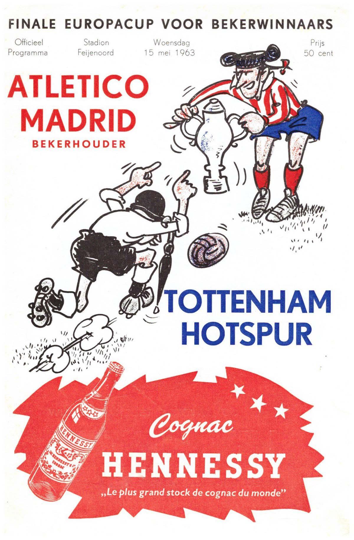 1963 ECWC Final programme Spurs